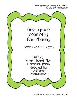First Grade Geometry: Fair Sharing