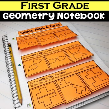 1st Grade Math Notebook:  Geometry