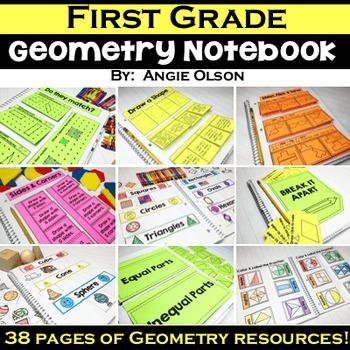 1st Grade Math Notebook:  Geometry