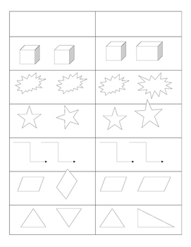 First Grade Geometry Math Centers