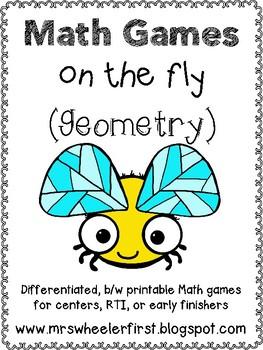 First Grade Geometry Math Games