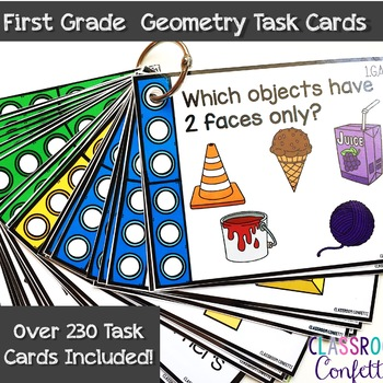 First Grade Geometry Task Cards