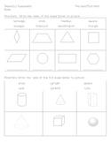 First Grade Geometry assessment