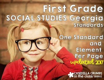 First Grade Georgia Standards of Excellence Social Studies