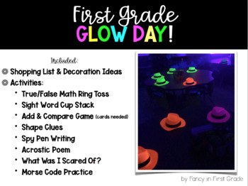 First Grade Glow Day