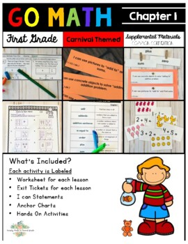 Go Math! First Grade Chapter 1 Supplemental Resources-Common Core