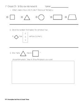 First Grade Go Math Chapter 12 Review Homework