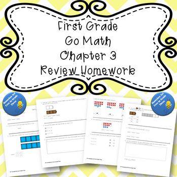 First Grade Go Math Chapter 3 Review Homework