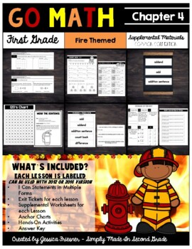 Go Math! First Grade Chapter 4 Supplemental Resources-Common Core