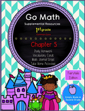 Go Math! First Grade Chapter 5 Supplemental Resources-Common Core