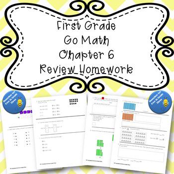First Grade Go Math Chapter 6 Review Homework