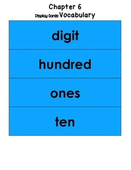 Go Math! First Grade Chapter 6 Supplemental Resources-Common Core