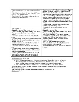 First Grade- Go Math!- Chapter 8- Lesson Plans