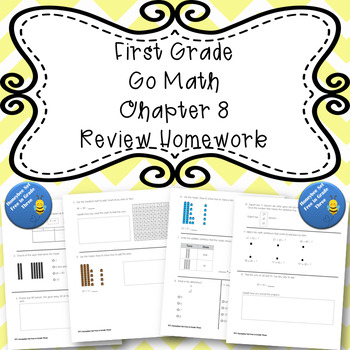First Grade Go Math Chapter 8 Review Homework