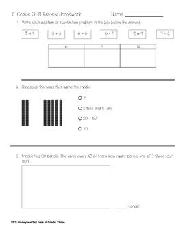 First Grade Go Math Chapter 8 Review Homework