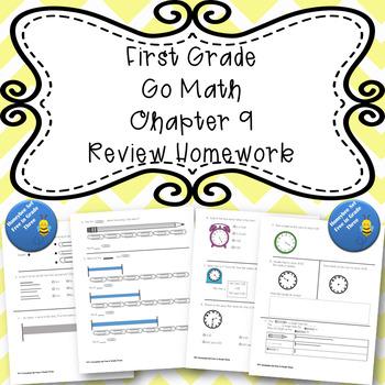 First Grade Go Math Chapter 9 Review Homework