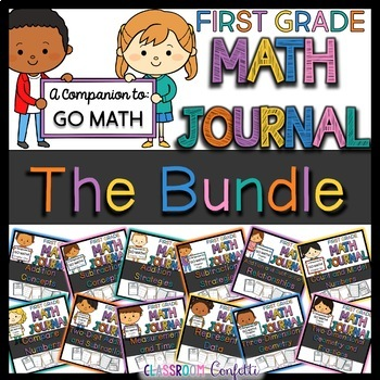 First Grade Go Math Journals Bundled (Chapters 1-12)