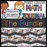 First Grade Go Math Journals Bundled (Chapters 1-12) Dista