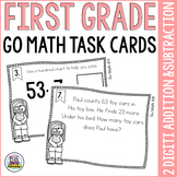 First Grade Math Task Cards: 2 Digit Addition and Subtraction