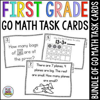 First Grade Math Task Cards: GROWING BUNDLE