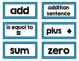 First Grade Go! Math Vocabulary Cards - Color Coded by Chapter