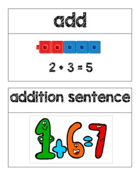 First Grade Go Math Word Wall Bundle