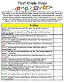 First Grade Goal Checklist