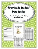 First Grade Goal Setting And Data Student Binder