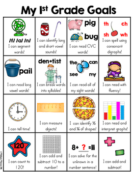 first grade goals skill sheet 1st grade common core standards overview