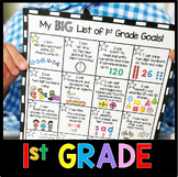 First Grade Goals and Awards - I Can Statements - Math and