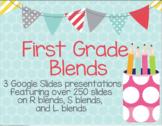 First Grade Google Slides Presentation on Blends