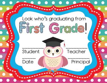 First Grade Graduation Certificates