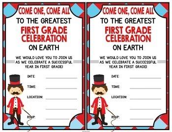 First Grade Graduation Certificates {Carnival / Circus}