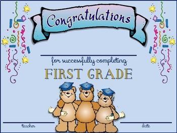 First Grade Graduation Certificates & Invitations