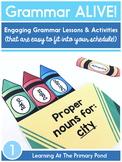 First Grade Grammar Lessons for the Year {Grammar Alive}