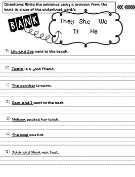 First Grade Grammar Assessment Year Long Plan: Common Core Aligned