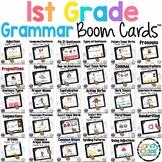 Grammar Bundle: 1st Grade BOOM Cards Grammar Distance Lear