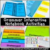First Grade Grammar Interactive Notebook Distance Learning