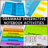 First Grade Grammar Interactive Notebook Distance Learning