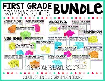 First Grade Grammar Scoot Bundle