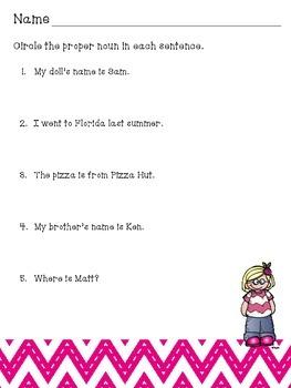First Grade Grammar Skills