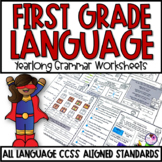 Language Arts Grammar and Vocabulary Worksheets for First Grade