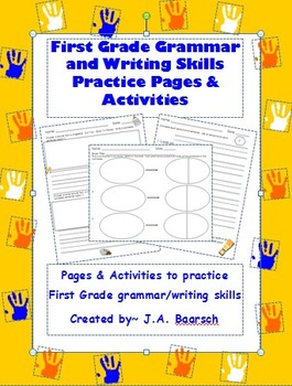 First Grade Grammar and Writing Skills Reproducible Practice Pages & Activities