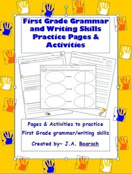 First Grade Grammar and Writing Skills Reproducible Practi