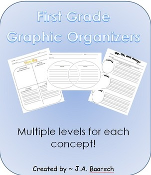 First Grade Graphic Organizers (Sorted by Level for each C