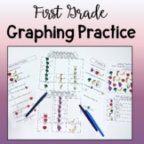 First Grade Graphing Practice--Picture Graphs, Bar Graphs,