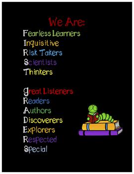 First Grade Growth Mindset Poster