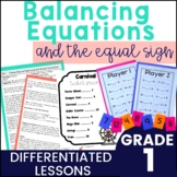 First Grade Guided Math - Balancing Equations and Equal Sign