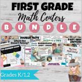First Grade Guided Math Center Bundle: Intervention, Enric
