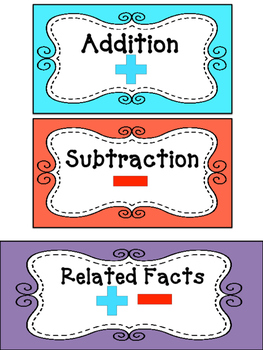 Math Games: Addition and Subtraction within 12